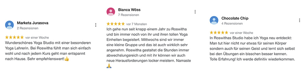 Bewertungen für Yoga Studio 1230 Wien